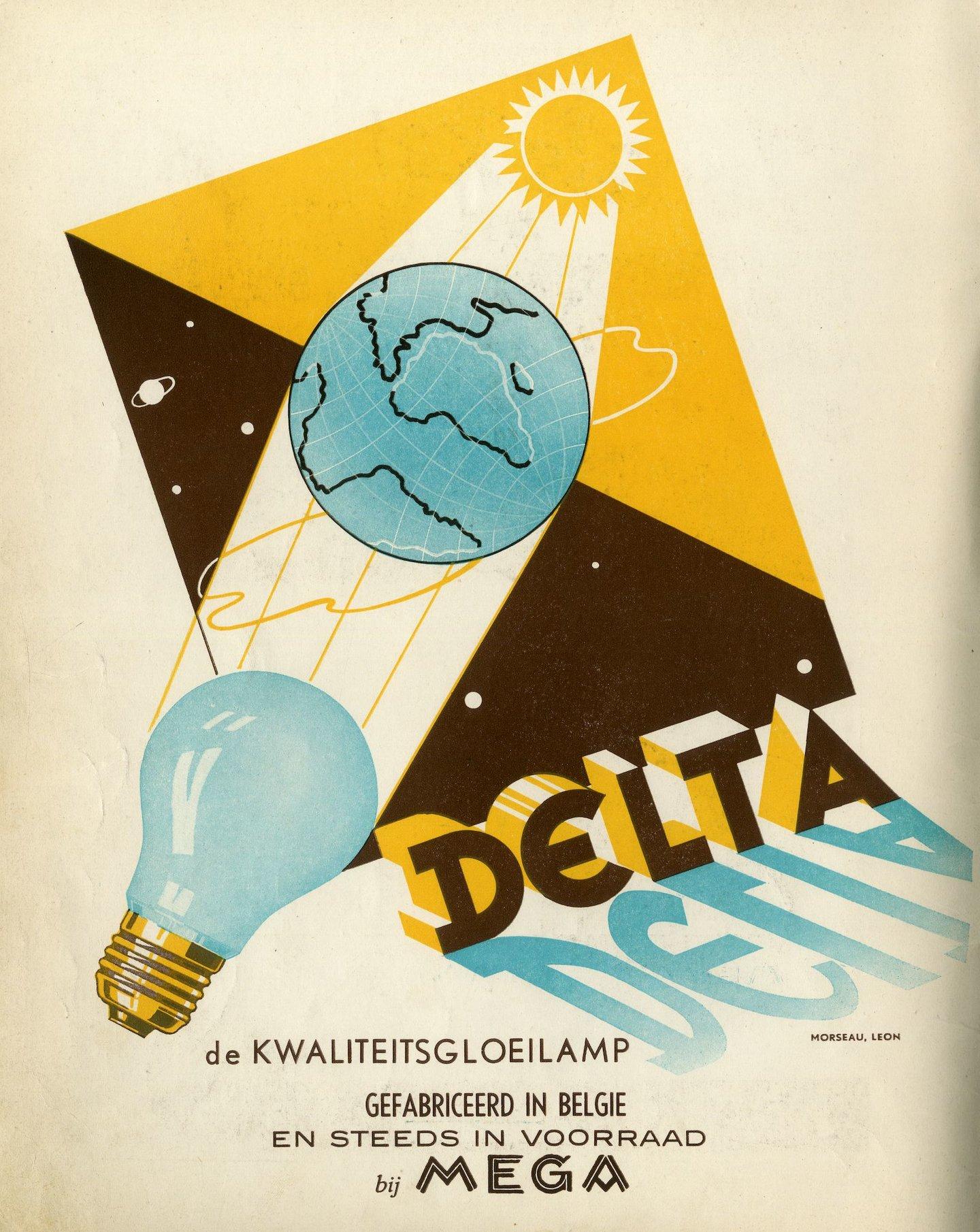 Reclame voor gloeilampen van het merk Delta