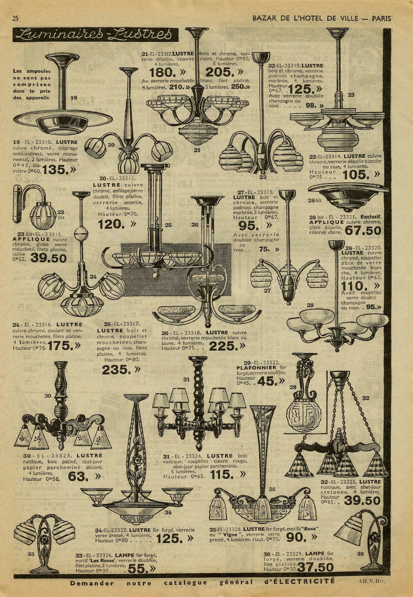 Verkoopscatalogus, met luchters, wandlampen en andere verlichtingsarmaturen
