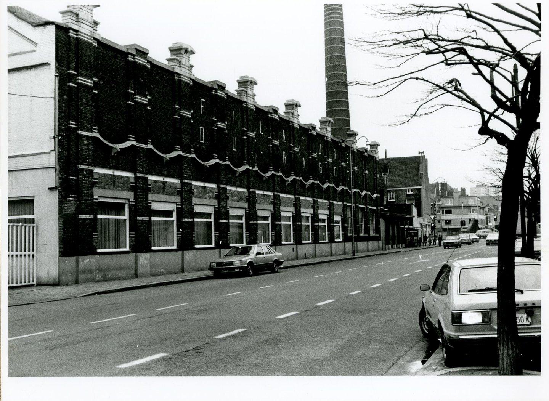 Buitenzicht van textielfabriek Filature du Rabot in Gent