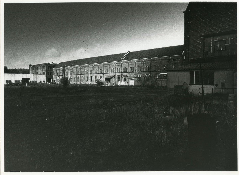 Buitenzicht van textielfabriek Alsberge-Van Oost in Gent