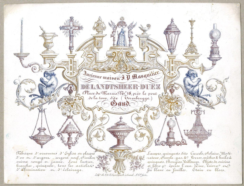 Reclamekaart van Delandtsheer-Duez
