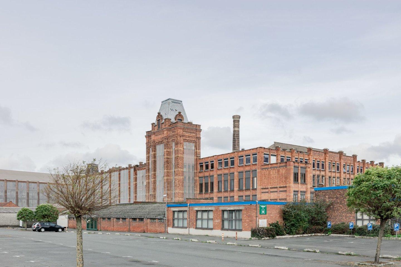 Buitenzicht van voormalige textielfabriek Pipyn in Gent