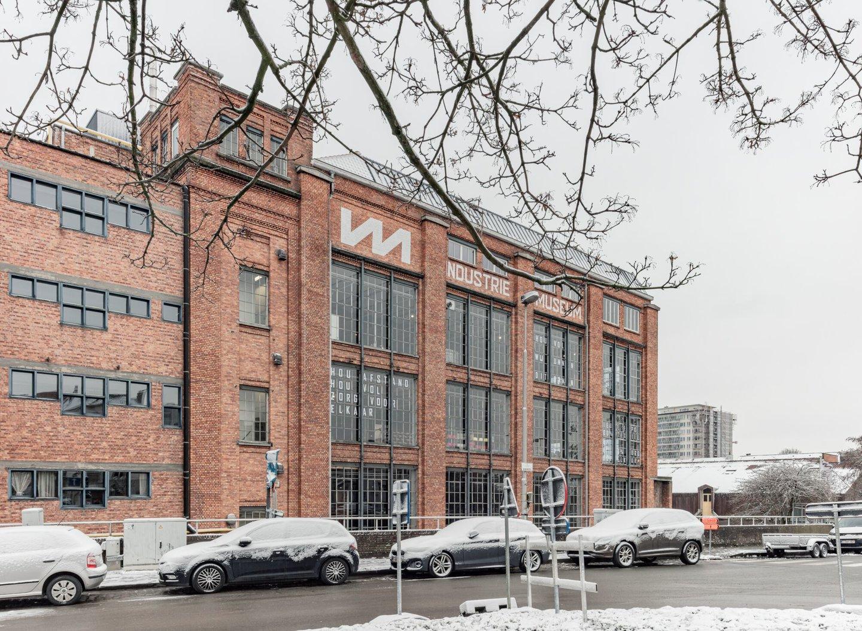Buitenzicht van het Industriemuseum in voormalige textielfabriek UCO Desmet-Guequier in Gent
