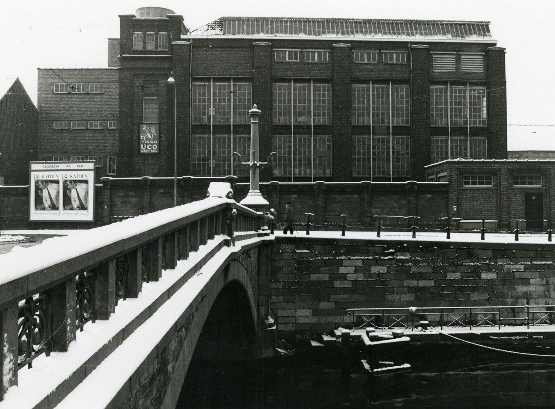 Buitenzicht van textielfabriek UCO Desmet-Guequier in Gent