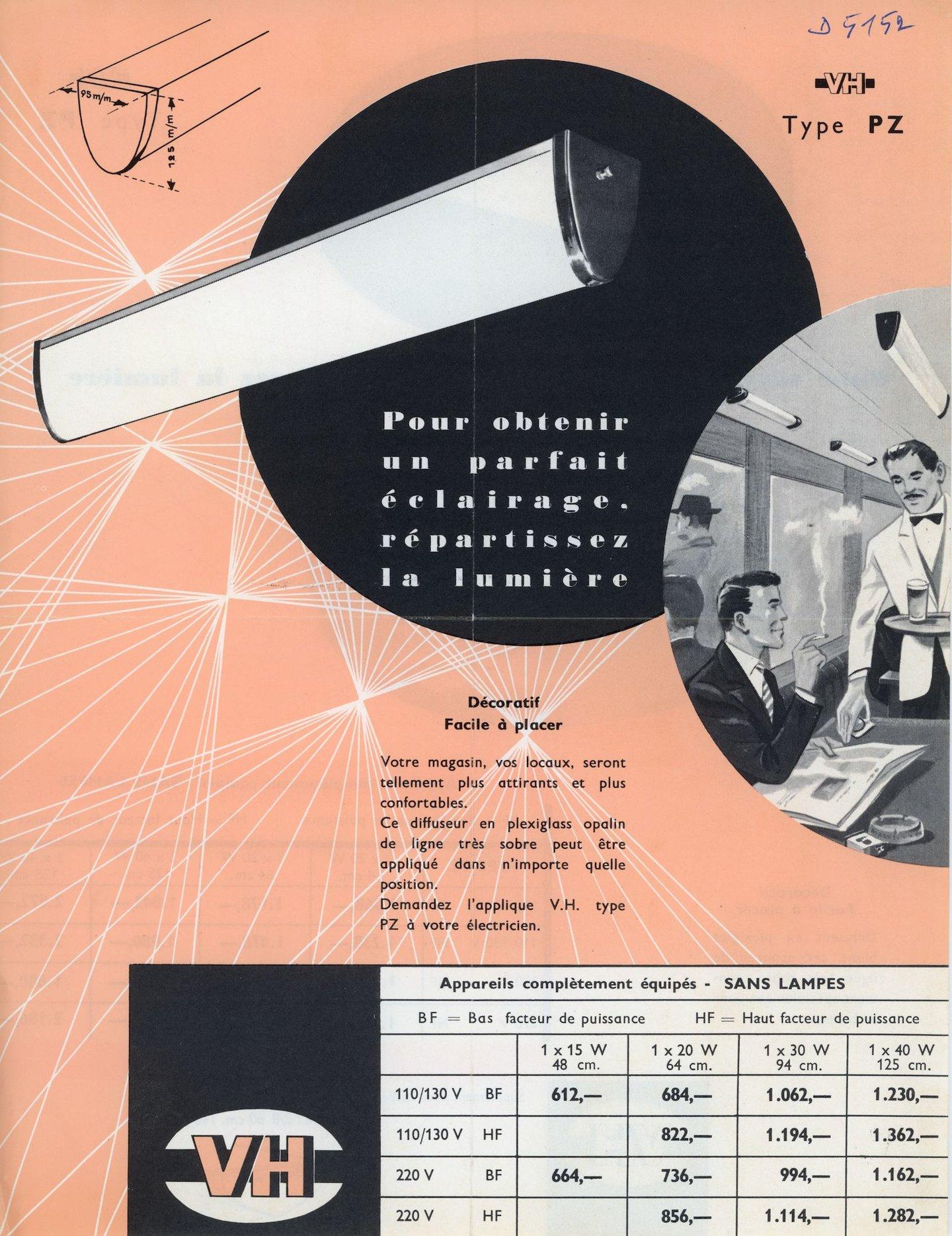 Pour obtenir un parfait éclairage répartissez la lumière VH, type PZ