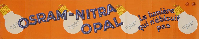 Kleurenbanner voor Osram-Nitra gloeilampen van het type Opal