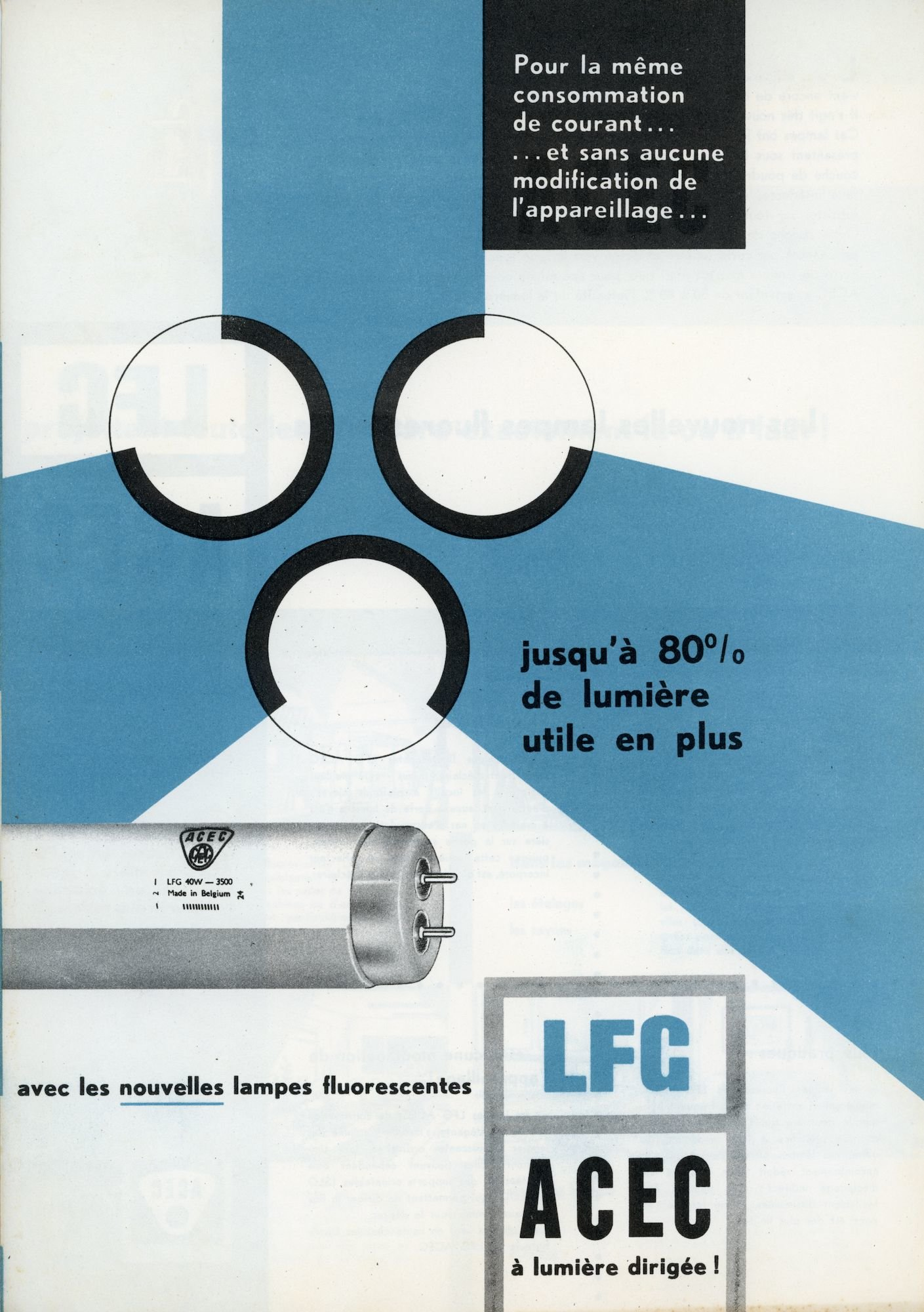 Avec les nouvelles lampes fluorescentes LFG, ACEC à lumière dirigée!