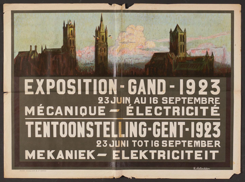 Affiche voor de tentoonstelling Mechaniek en Elektriciteit, Gent 1923