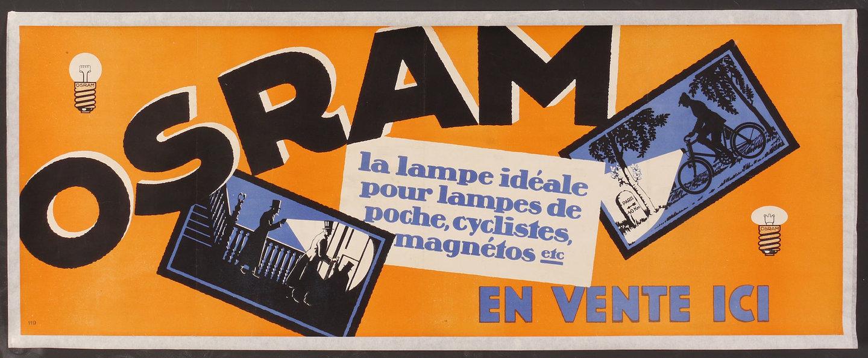 Affiche voor lampen van het merk Osram