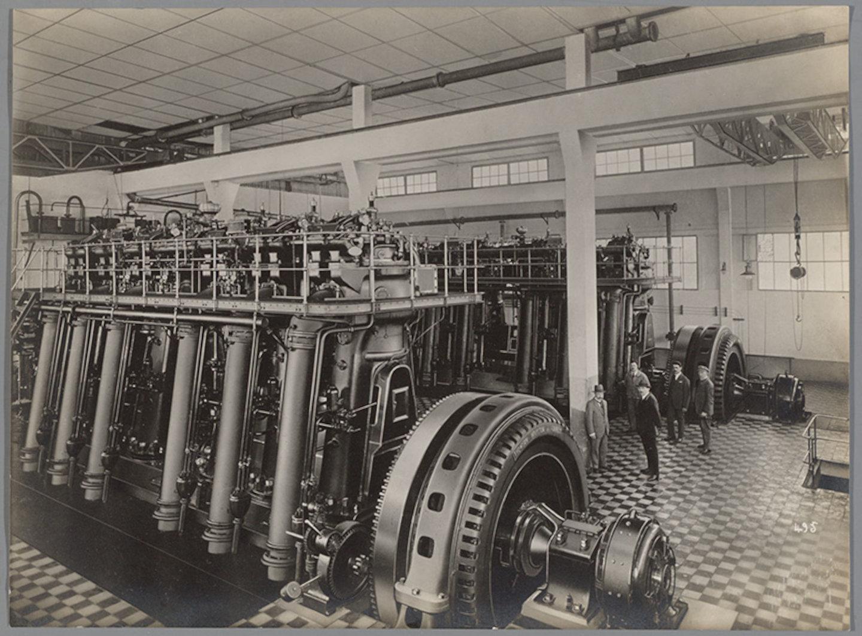 Dieselmotoren in elektriciteitscentrale Casablanca