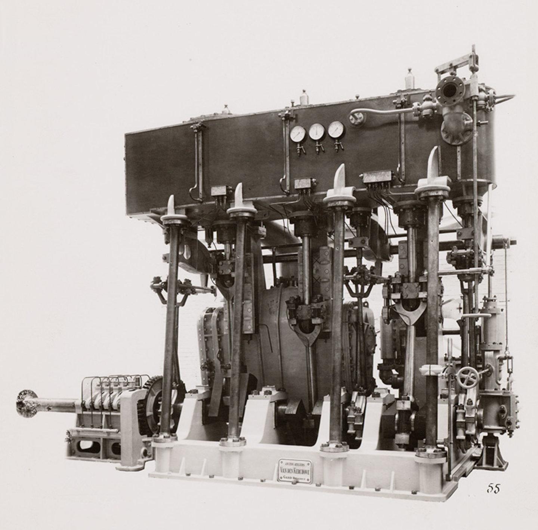 Dieselmotor van constructiebedrijf Van den Kerchove