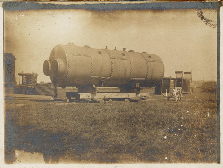 Lancaster stoomketel voor plaatsing