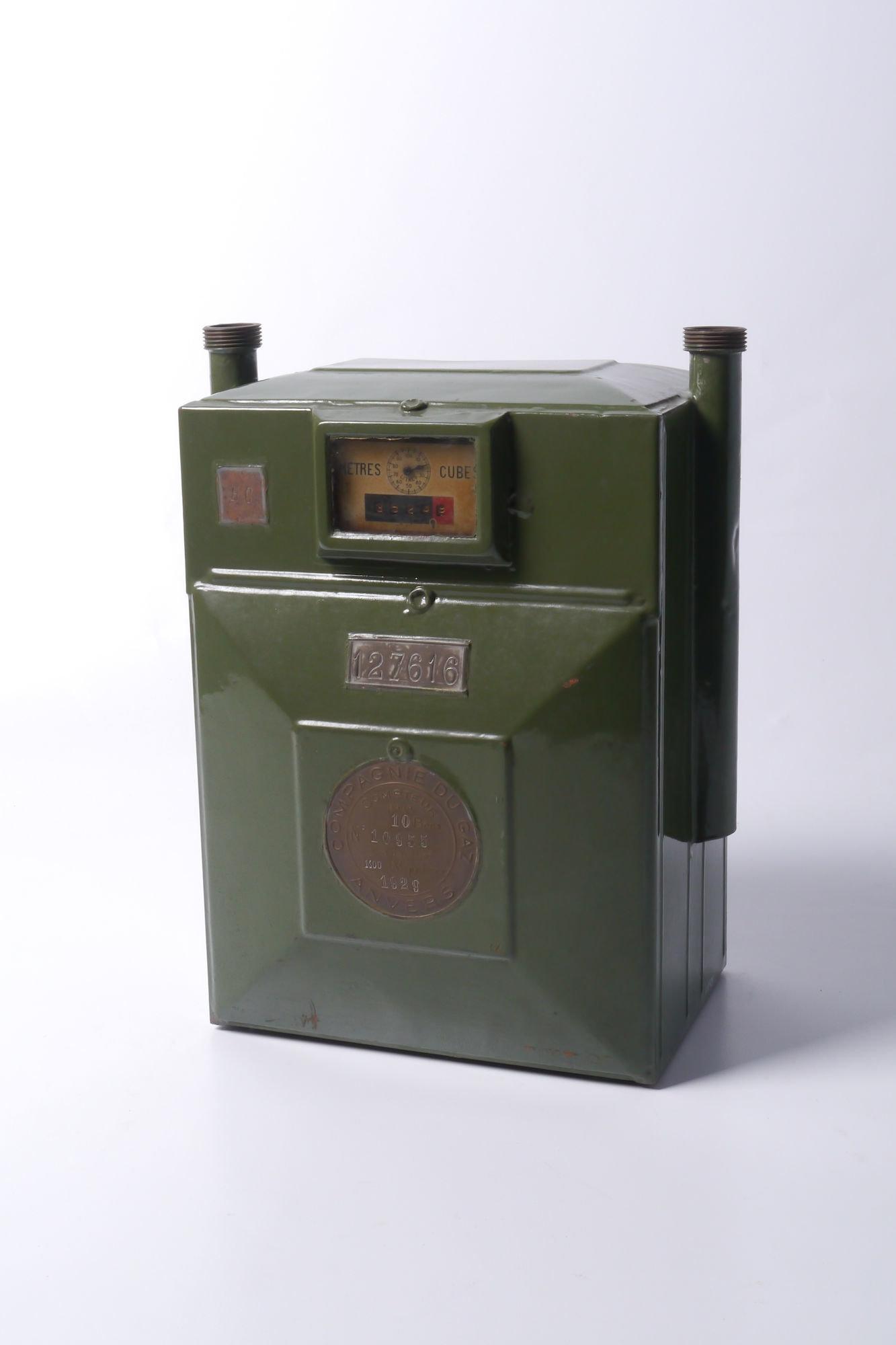 Verbruiksmeter voor gas van het merk Compagnie du Gaz Anvers