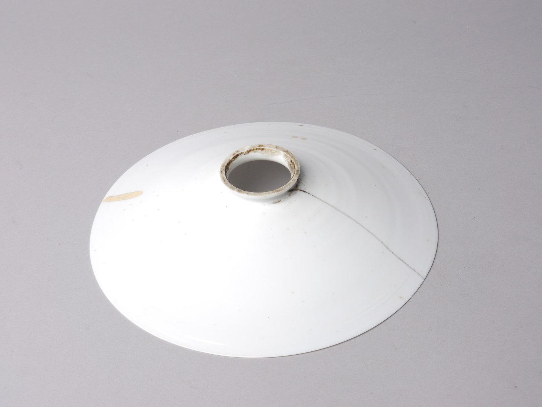 Lampenkap in wit opaline glas