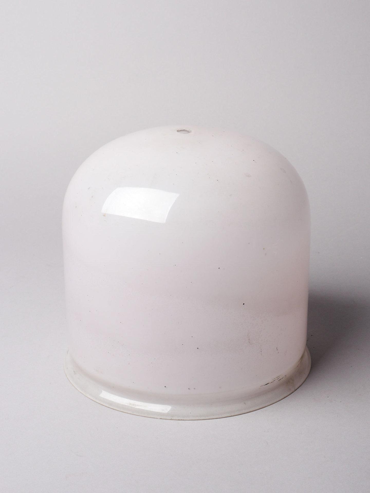 Lampenkap in wit glas