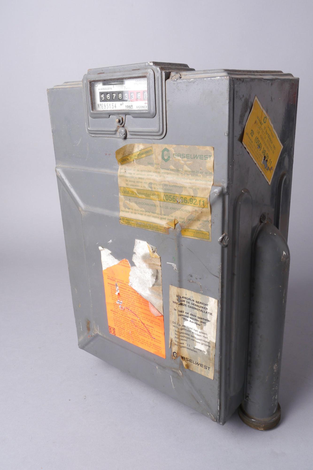 Verbruiksmeter voor gas van het merk Sabelco