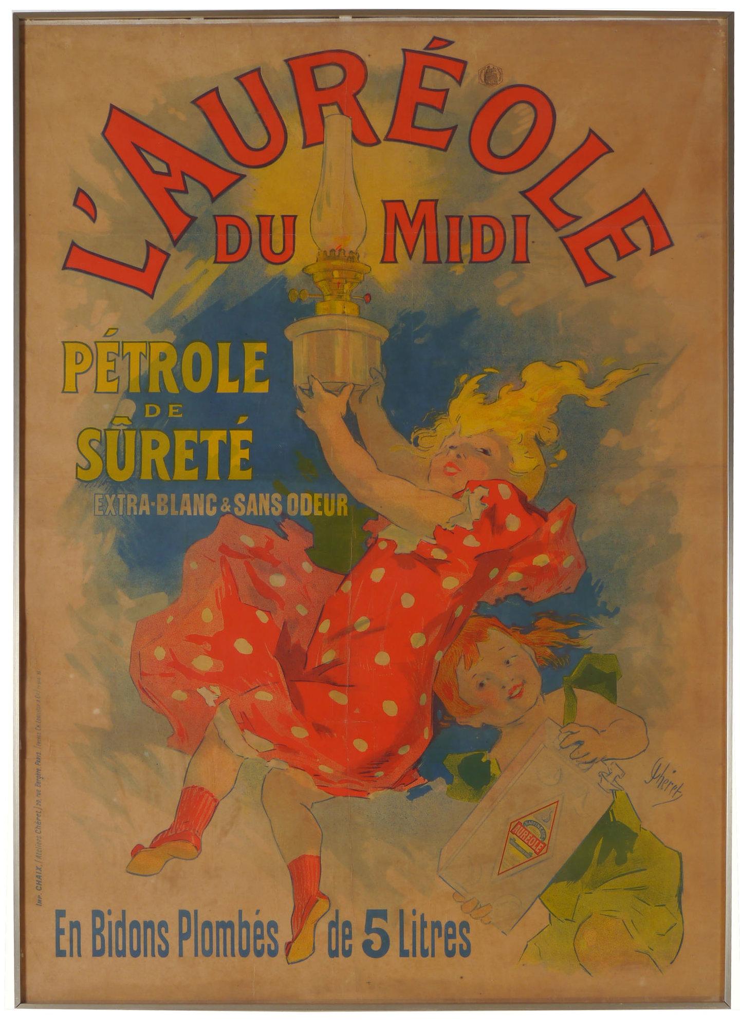 Affiche voor lampenpetroleum l'Auréole du Midi
