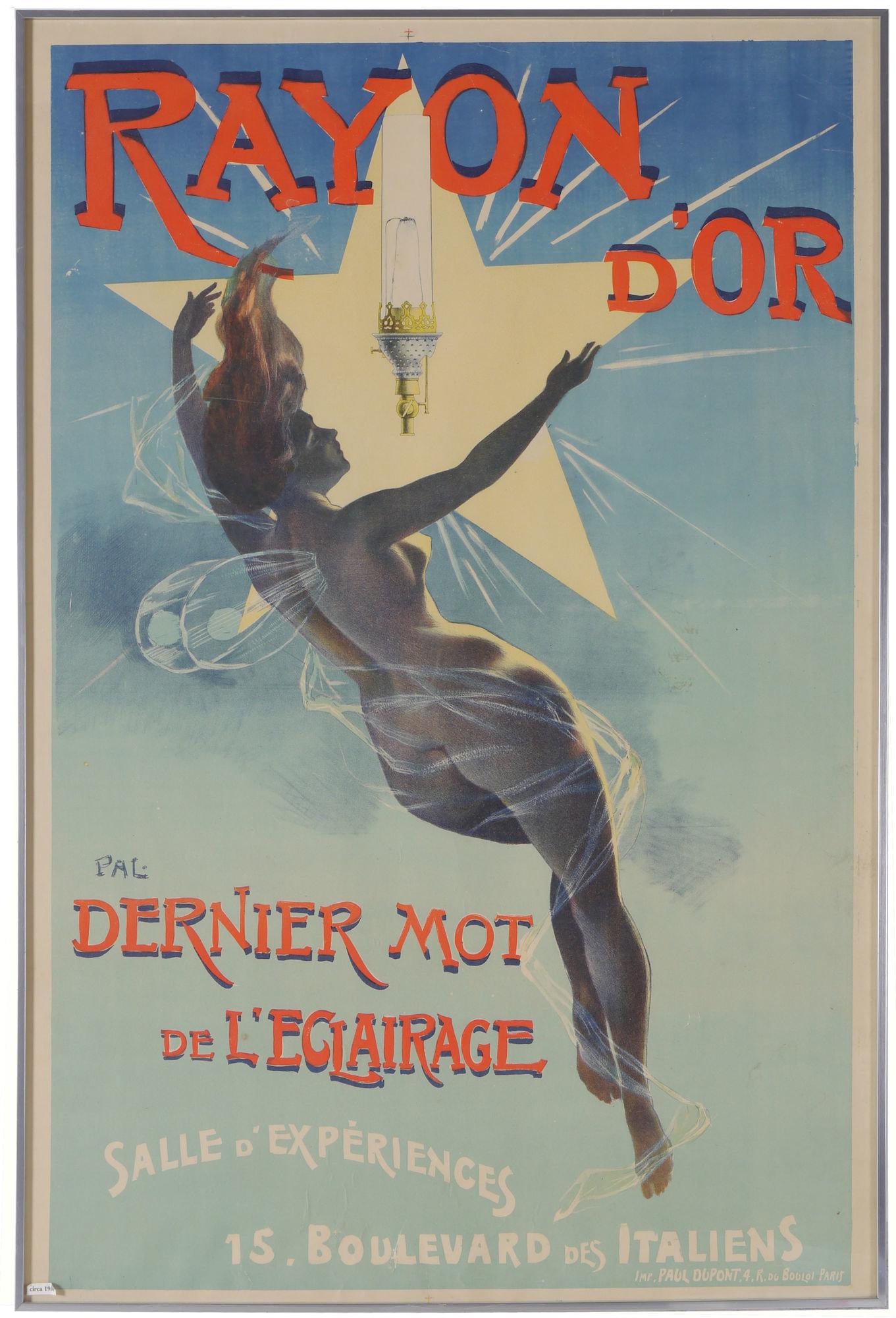 Affiche voor gasmantelverlichting Rayon d'Or