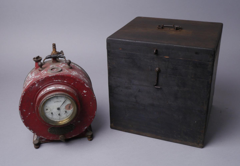 Draagbare ijkmeter voor gas van het merk Compagnie Belge pour la Fabrication des Compteurs