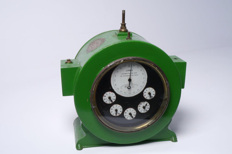 Verbruiksmeter voor gas van het merk Compagnie Continentale pour la Fabrication des Compteurs