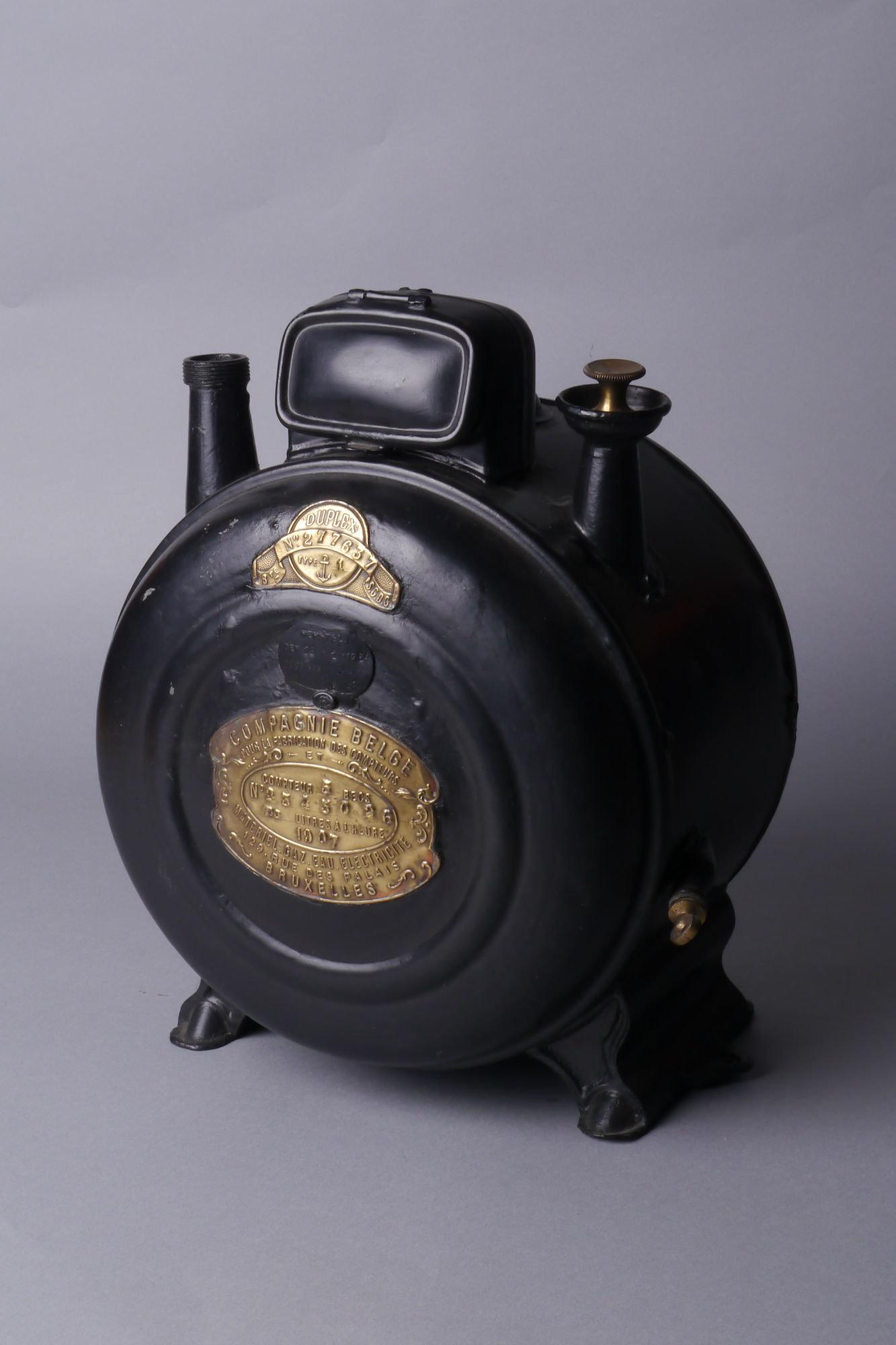 Verbruiksmeter voor gas van het merk Compagnie Belge pour la Fabrication des Compteurs