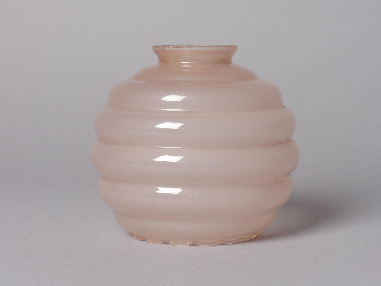 Lampenkap in roze glas