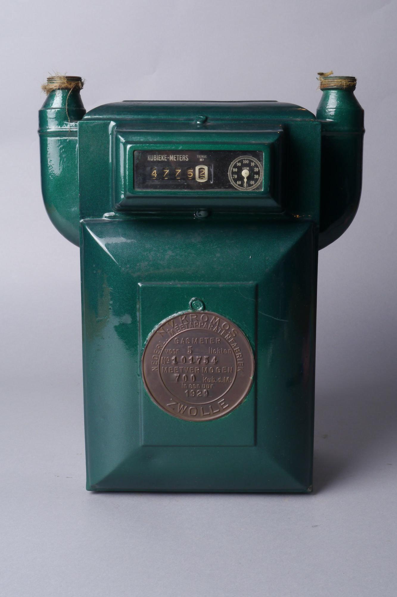Verbruiksmeter voor gas van het merk Kromos