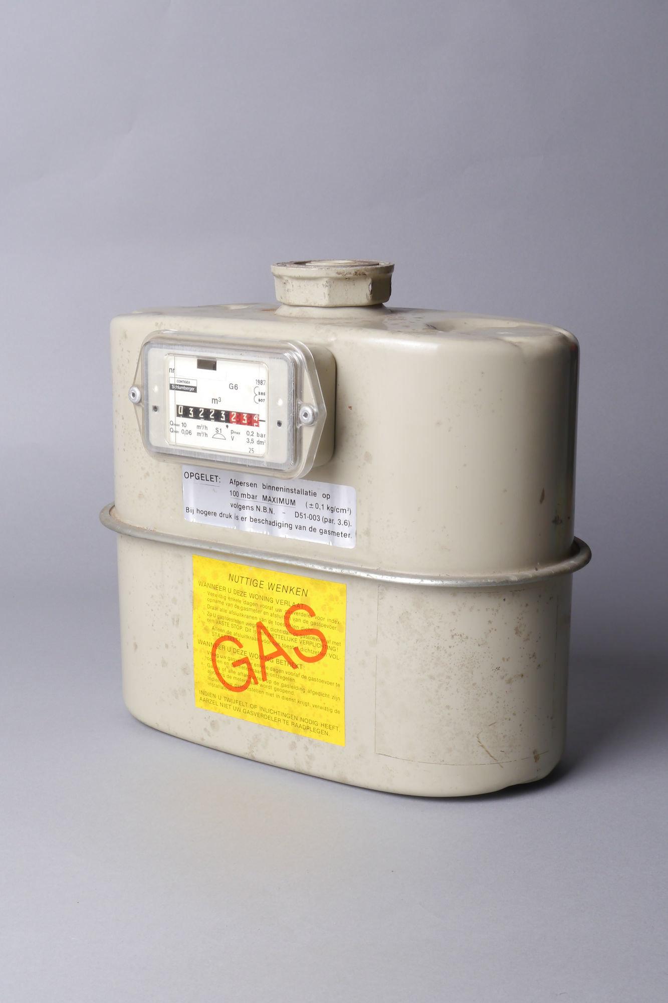 Verbruiksmeter voor gas van het merk Contigea-Schumberger