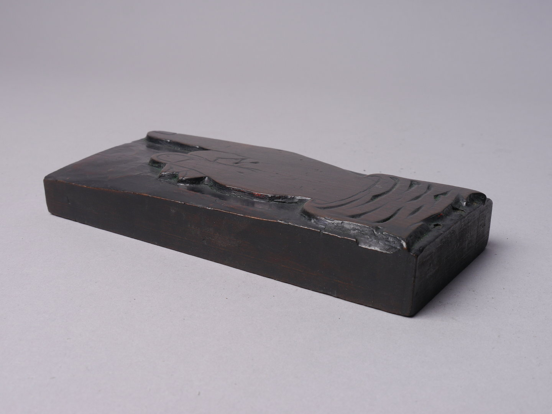 Houten drukornament manicule