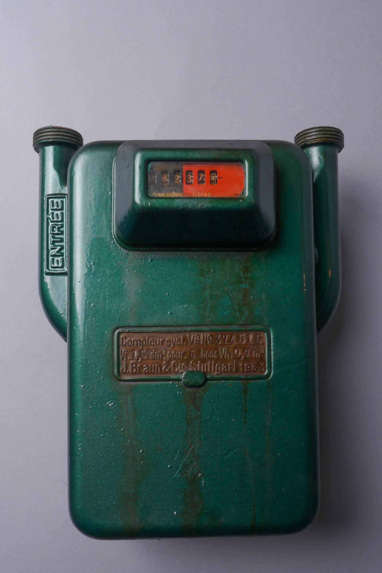 Verbruiksmeter voor gas van het merk Braun