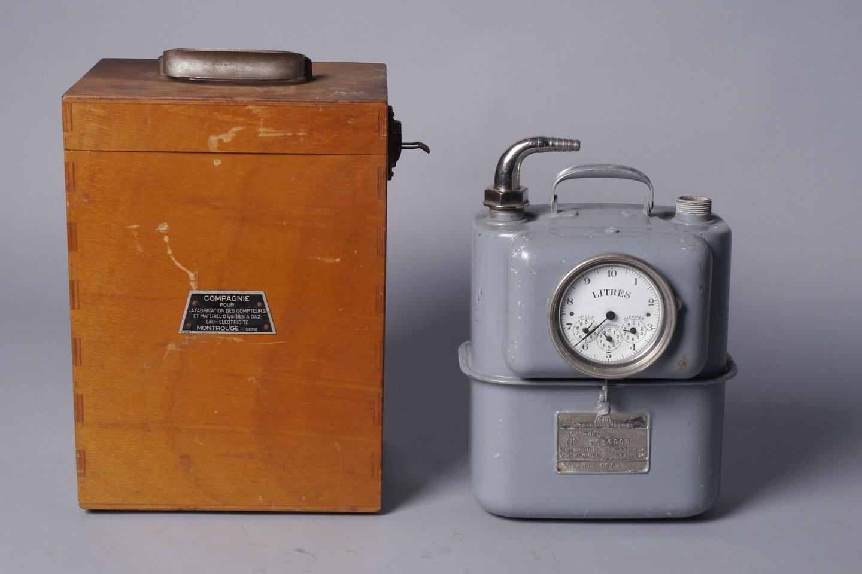 Draagbare ijkmeter voor gas van het merk Compagnie pour la Fabrication des Compteurs