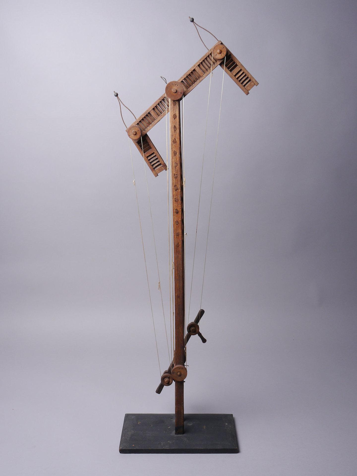 Schaalmodel van de semafoor of optische telegraaf van Claude Chappe