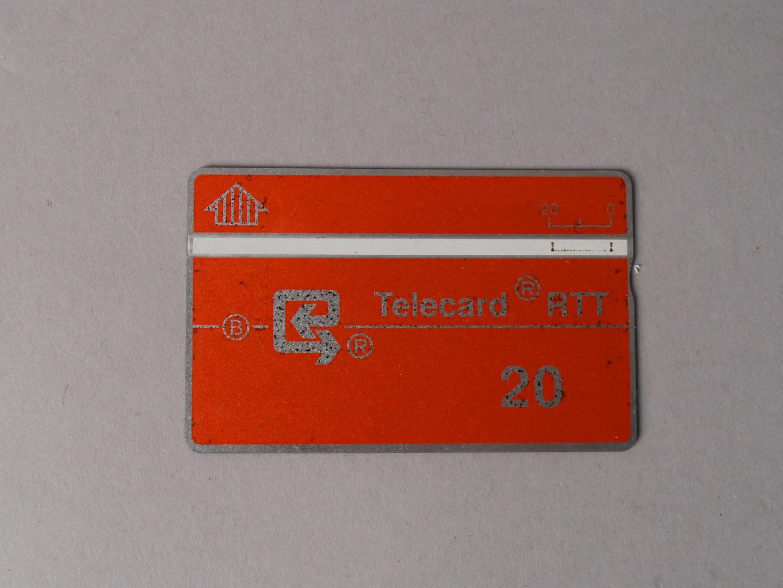 Optische telefoonkaart uitgegeven door de RTT