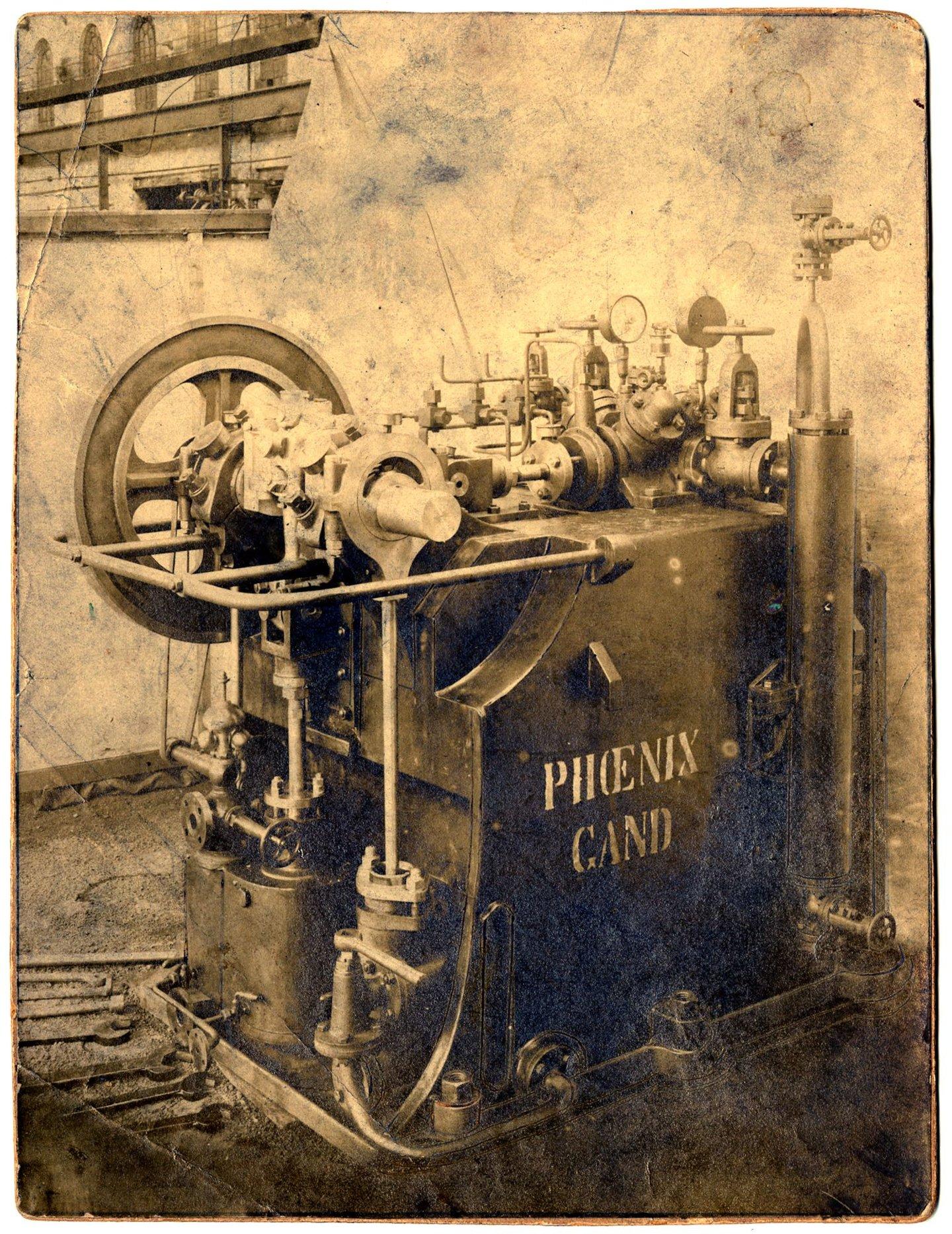 Stoommachine van het Gentse constructiebedrijf Phoenix