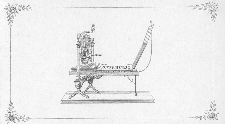 Visitekaart van drukker Verhulst