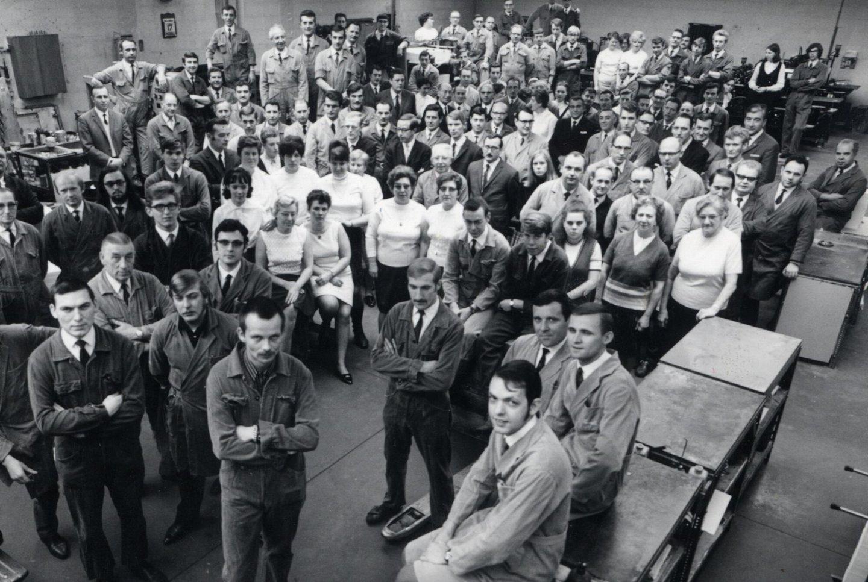 Het personeel van drukkerij Van Melle te Mariakerke