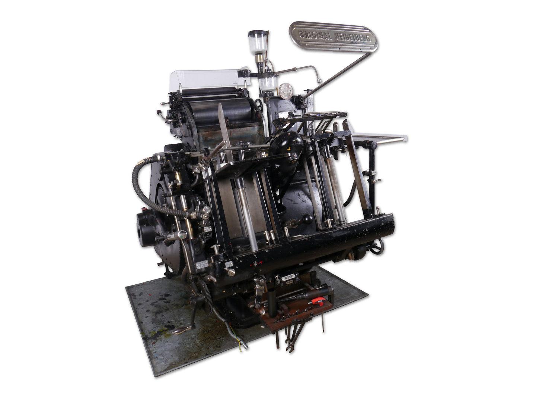 Automatische degelpers van het merk Heidelberg