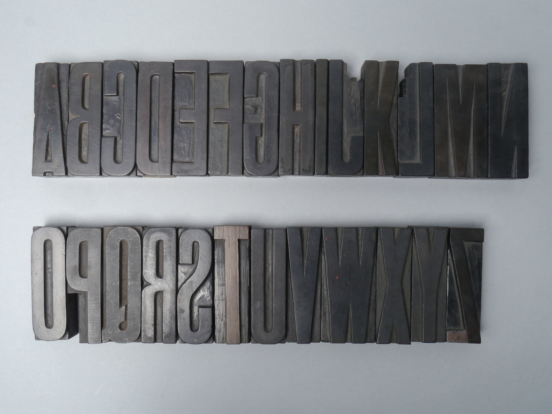 Houten drukletters