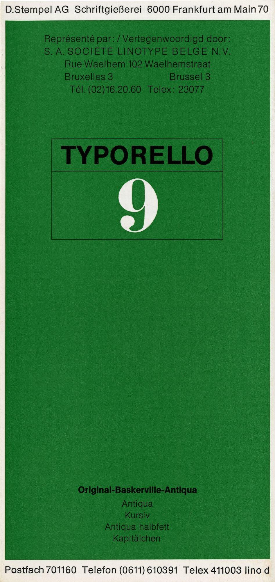 Letterproef met het lettertype Original-Baskerville-Antiqua voor Linotype