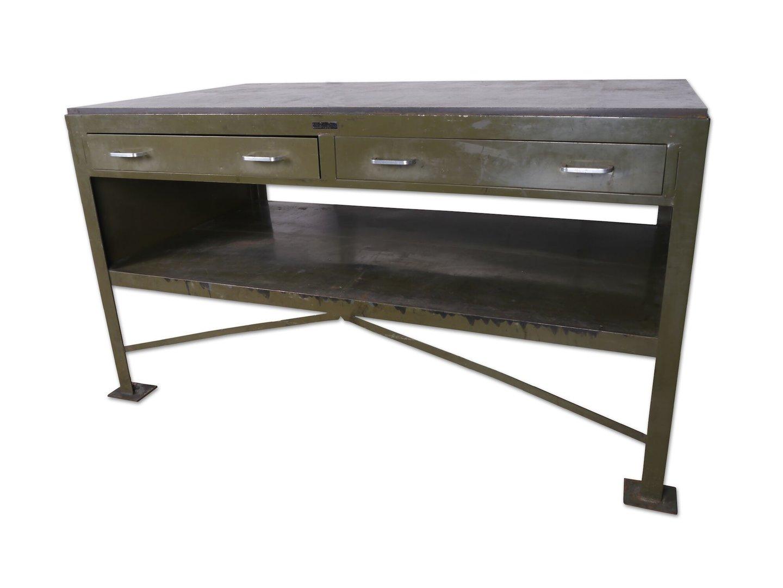 Werktafel van het merk Plantin gebruikt in drukkerij