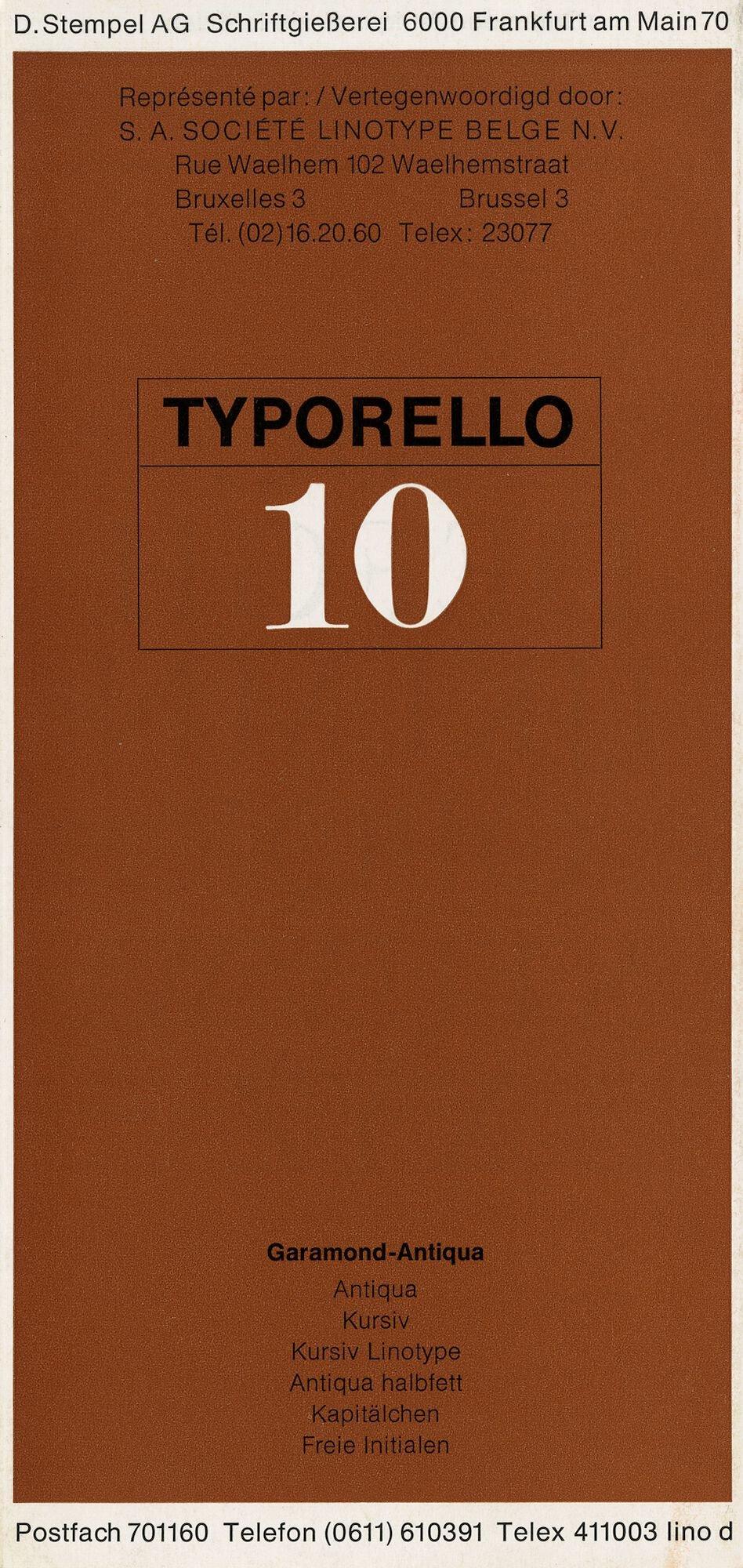 Letterproef met het lettertype Garamond-Antiqua voor Linotype