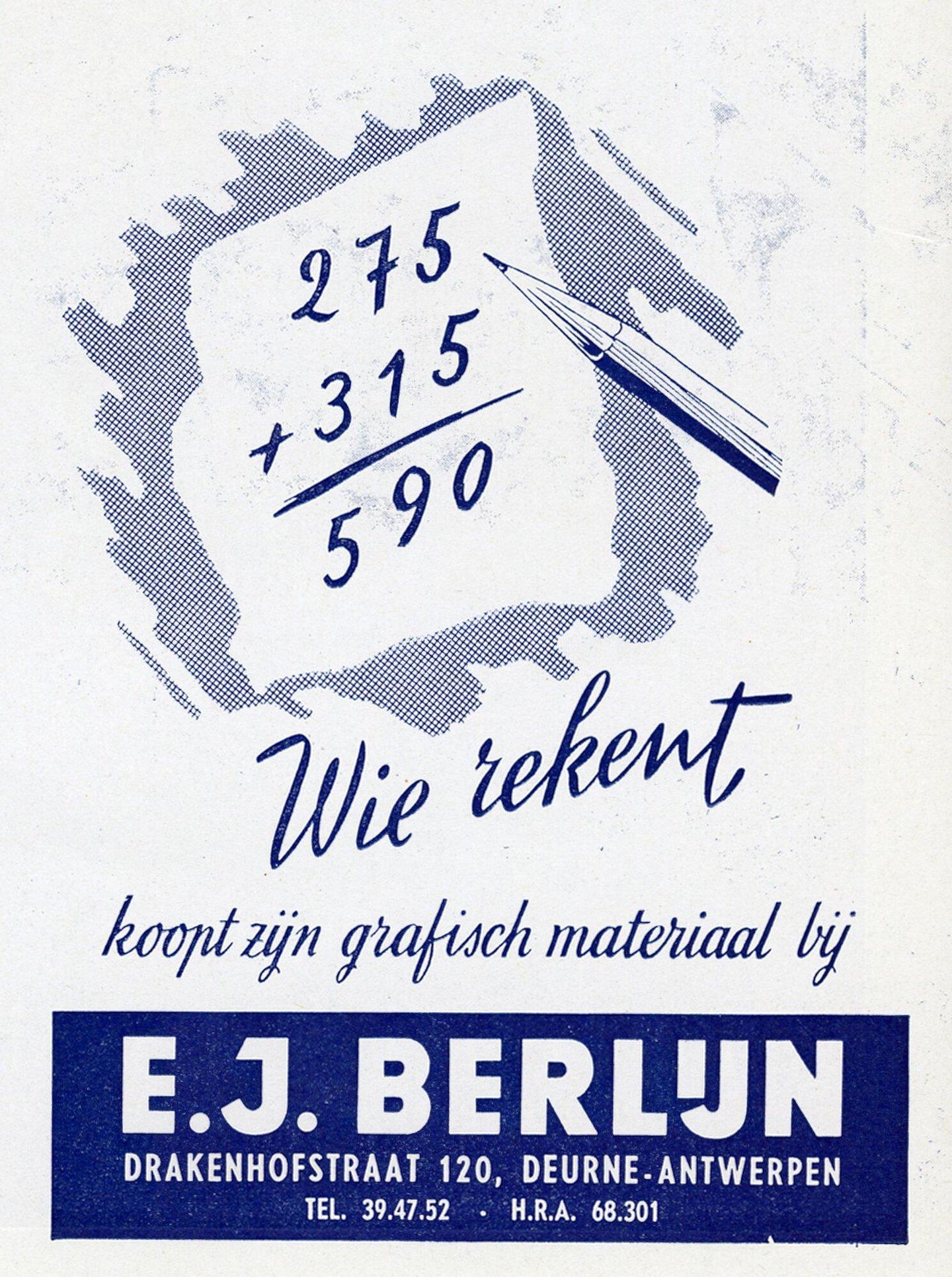 Reclame voor grafisch materiaal verdeeld door Berlijn