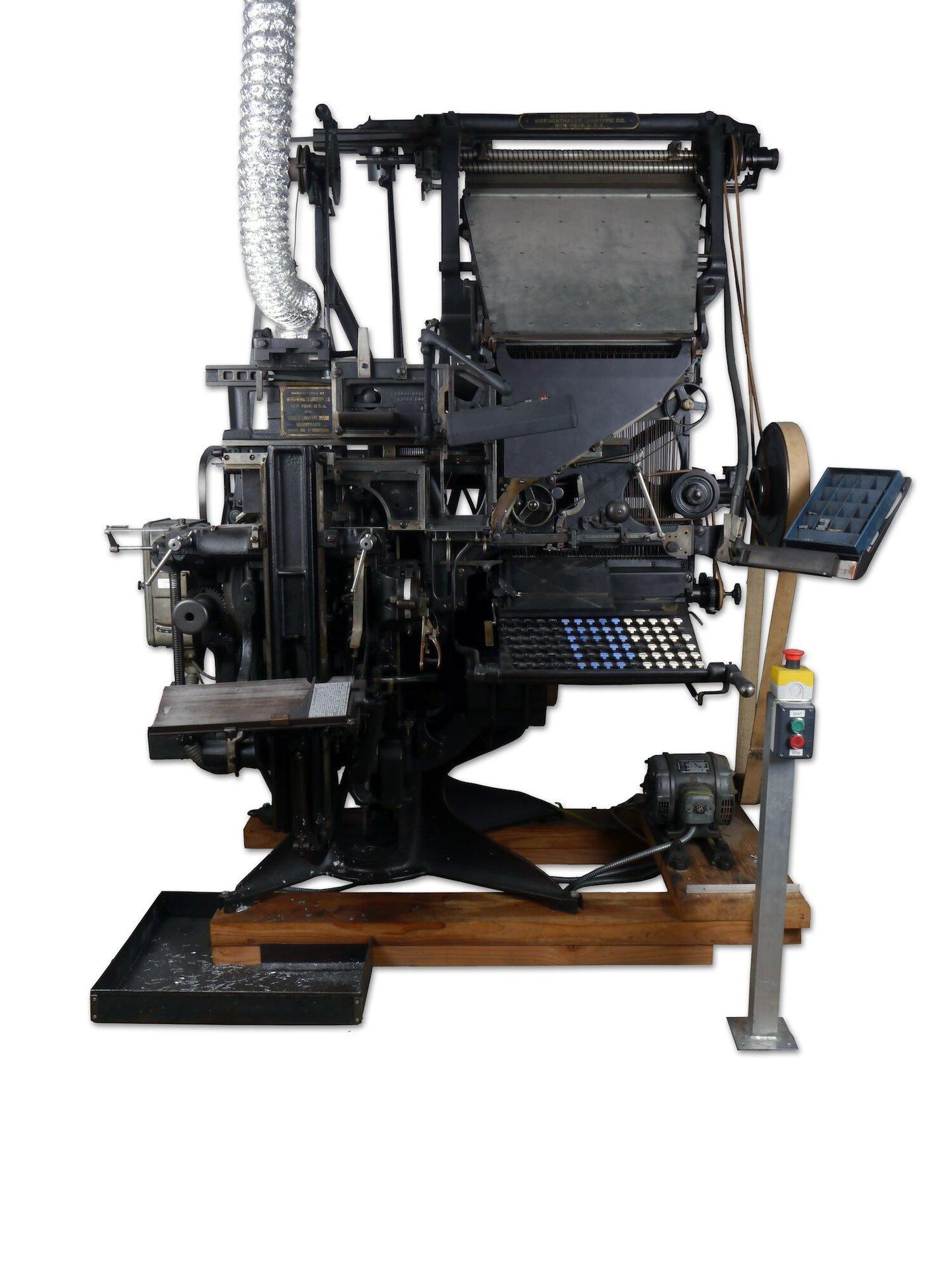 Regelzetmachine van het merk Linotype
