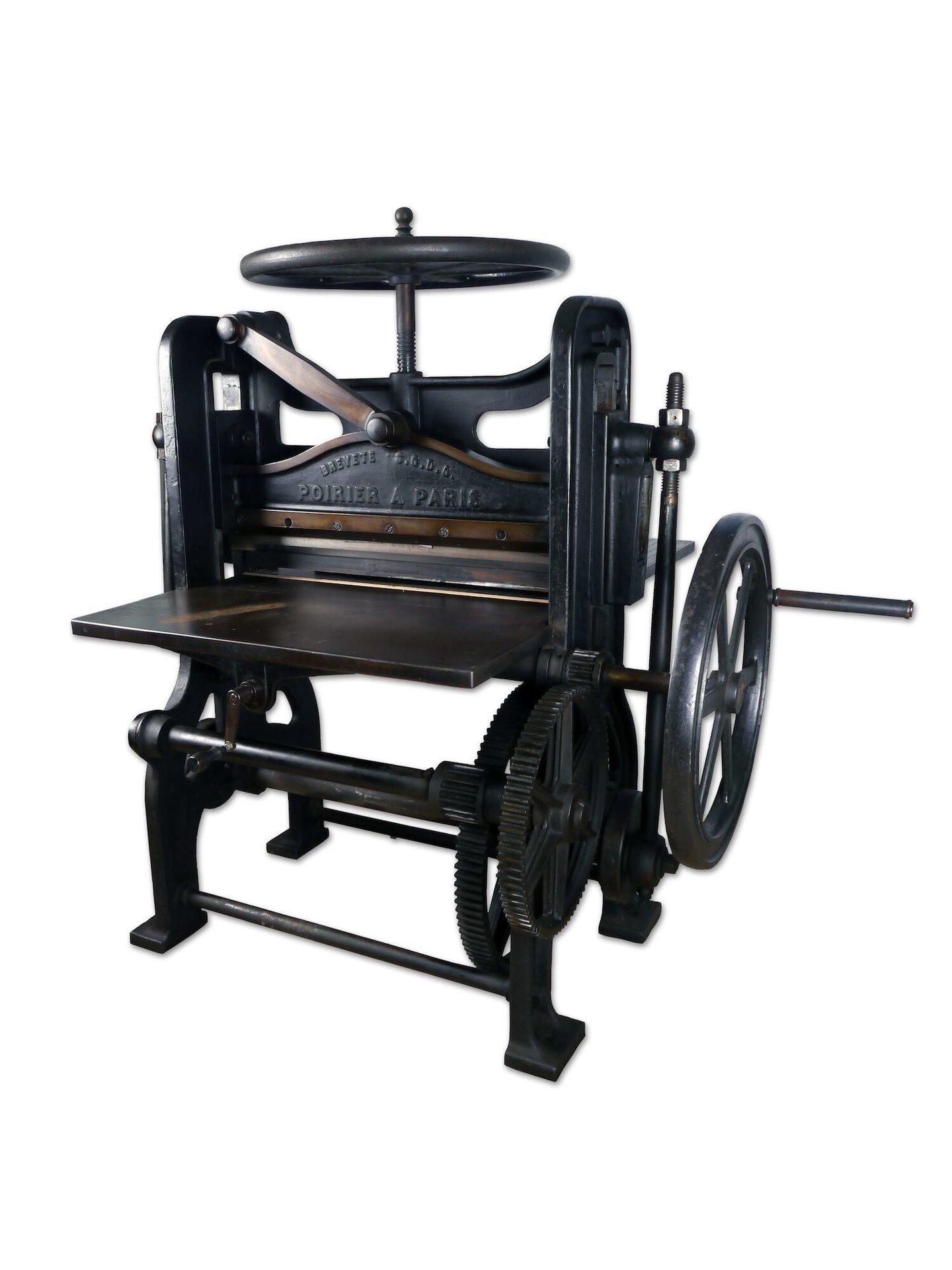 Manuele snijmachine geproduceerd door Poirier