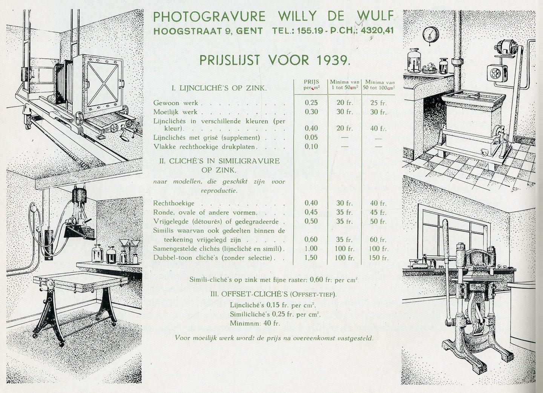 Reclame voor grafisch bedrijf De Wulf