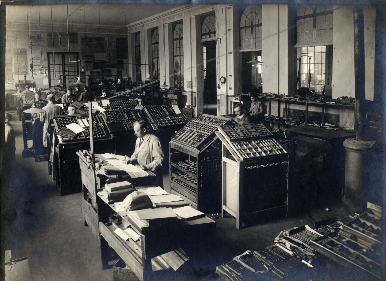 Binnenzicht van drukkerij Van Melle te Gent