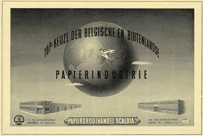 Reclame voor Papiergroothandel Scaldia