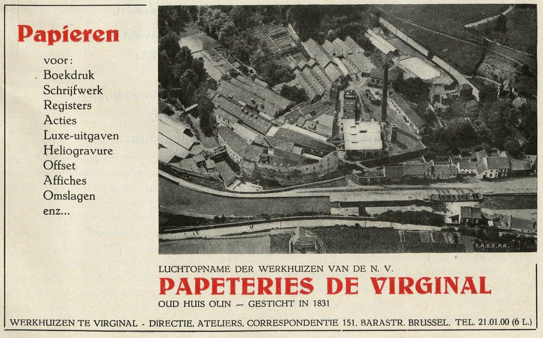 Reclame voor papierbedrijf Papeteries de Viginal