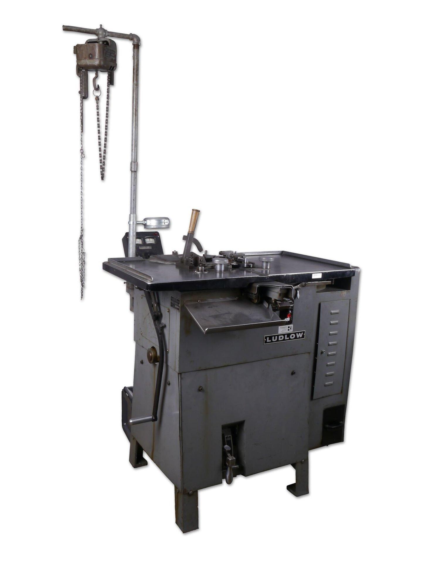 Regelzetmachine van het merk Ludlow
