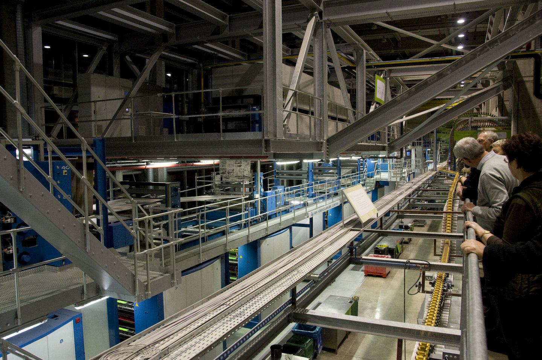 Binnenzicht van het Eco Print Center te Lokeren
